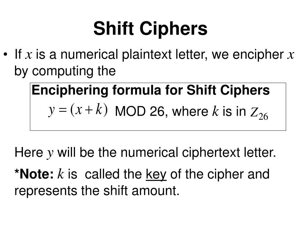Shift Ciphers
