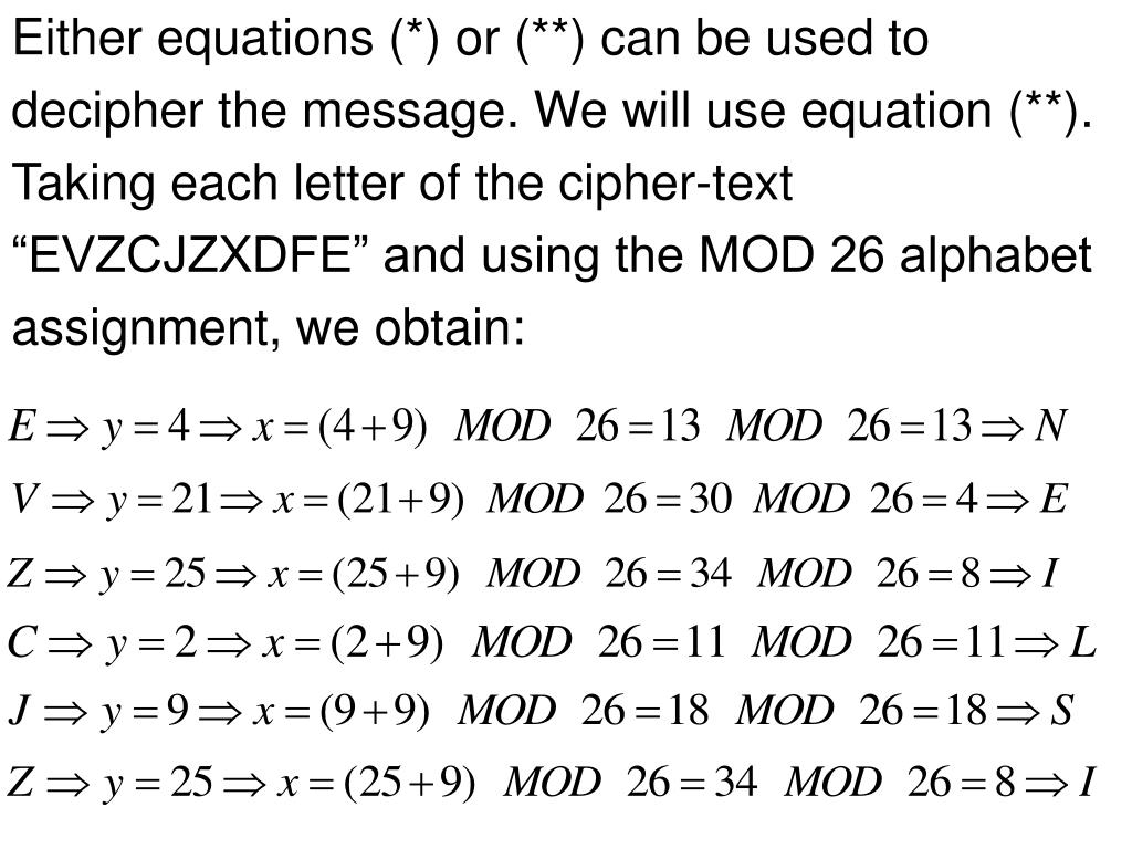 Either equations (*) or (**) can be used to