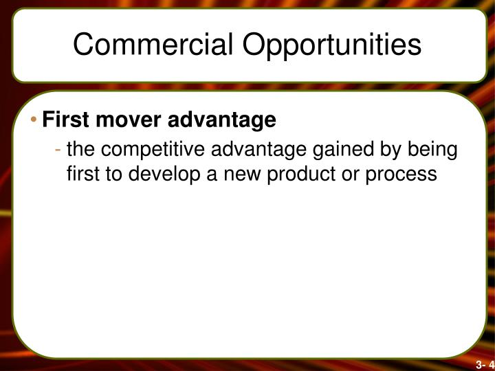Commercial Opportunities