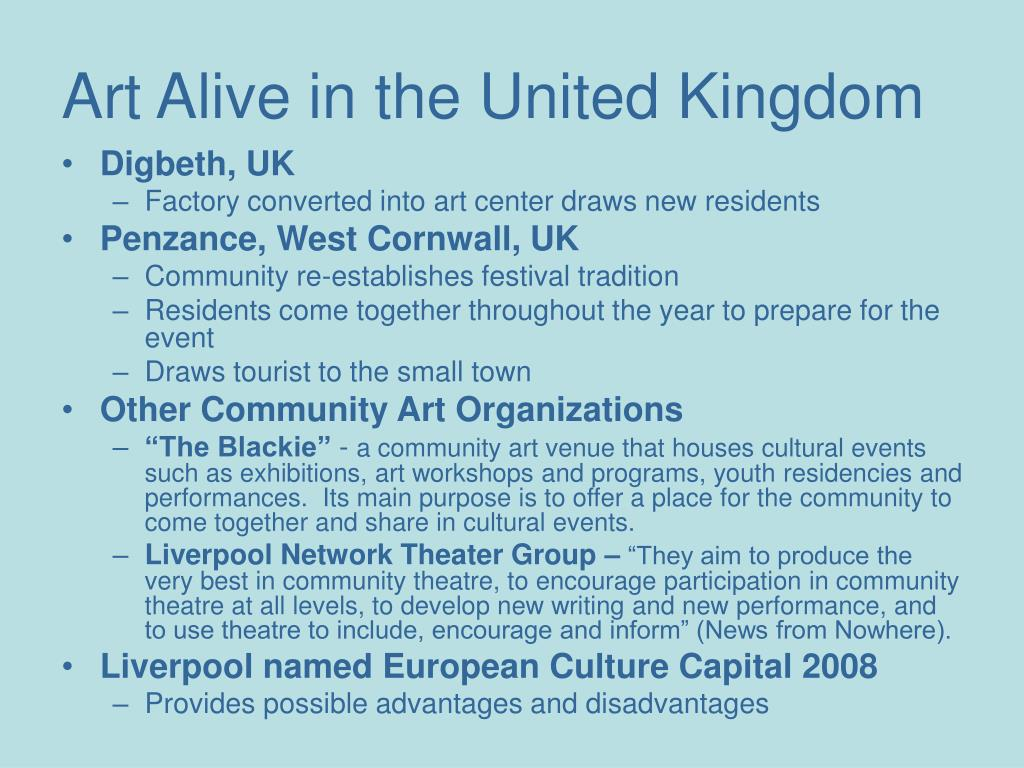 Art Alive in the United Kingdom