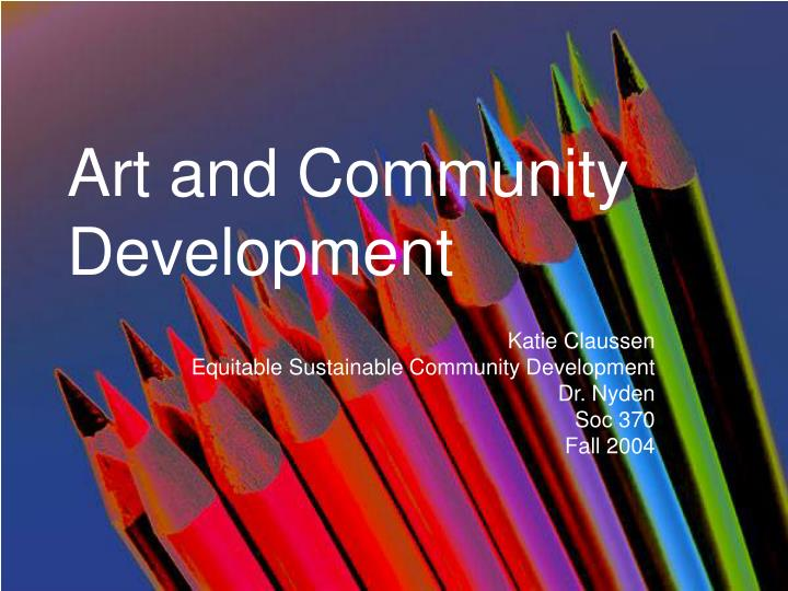Art and community development