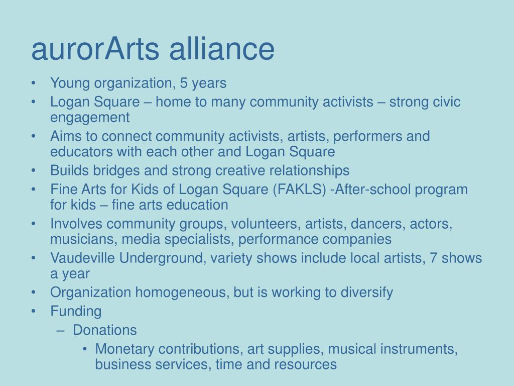 aurorArts alliance
