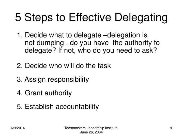 5 Steps to Effective Delegating
