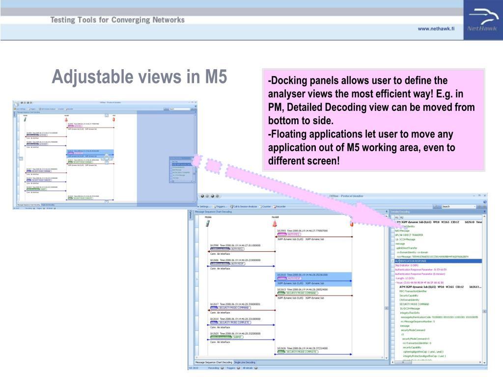 Adjustable views in M5