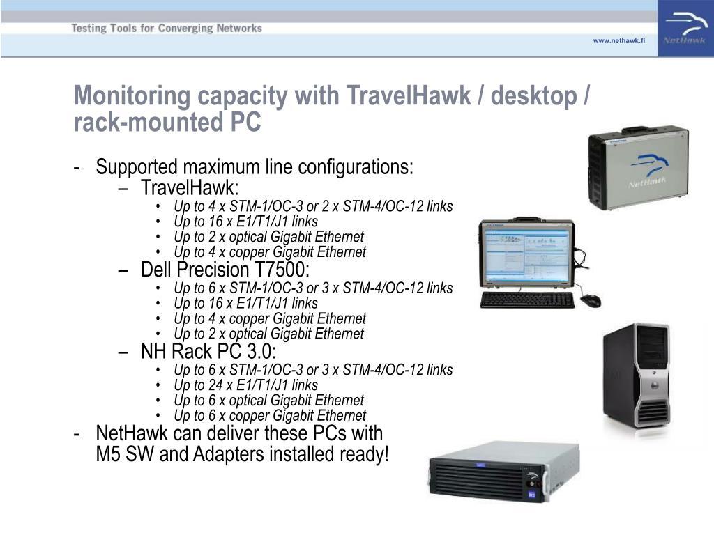 Monitoring capacity with TravelHawk / desktop / rack-mounted PC
