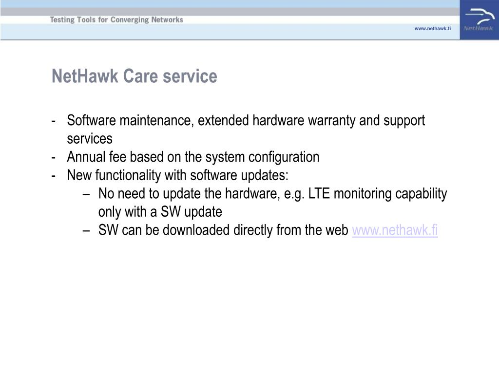 NetHawk Care service