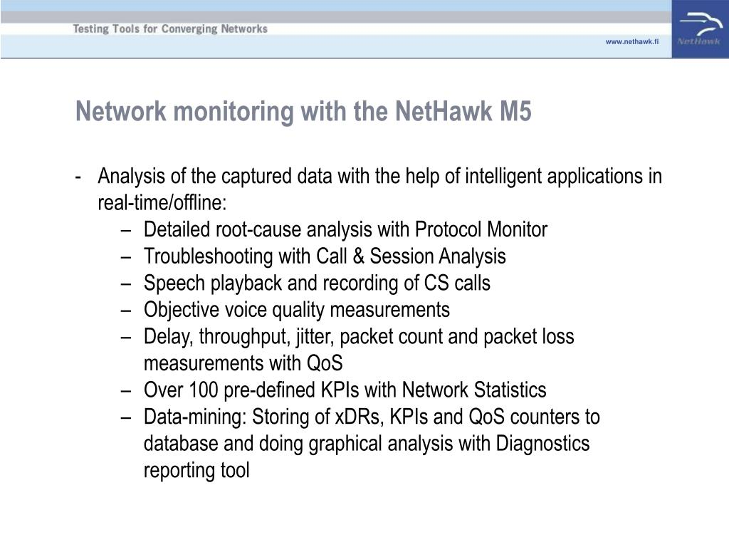 Network monitoring with the NetHawk M5