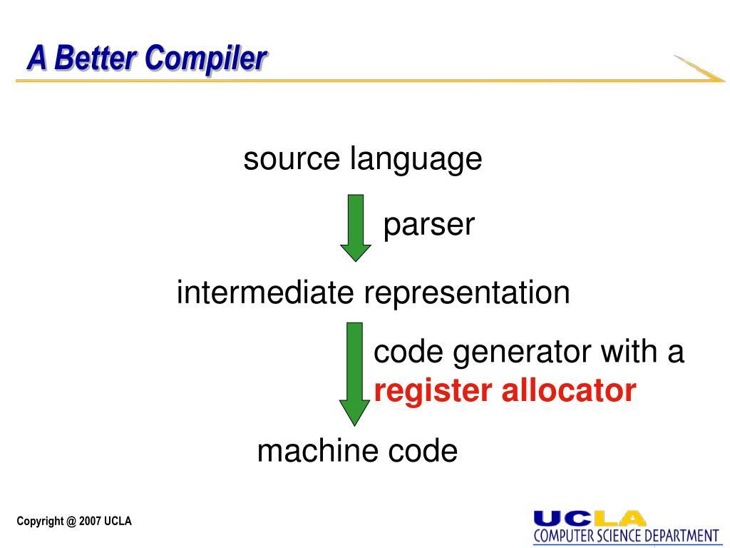 A Better Compiler