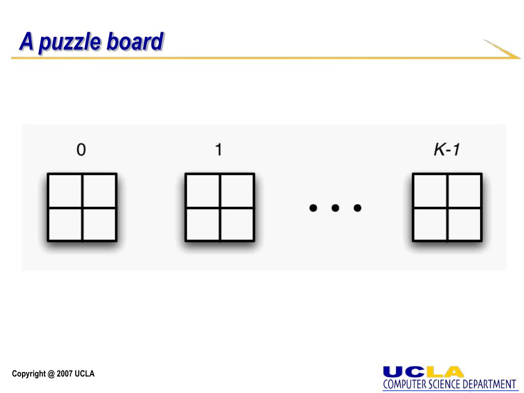 A puzzle board