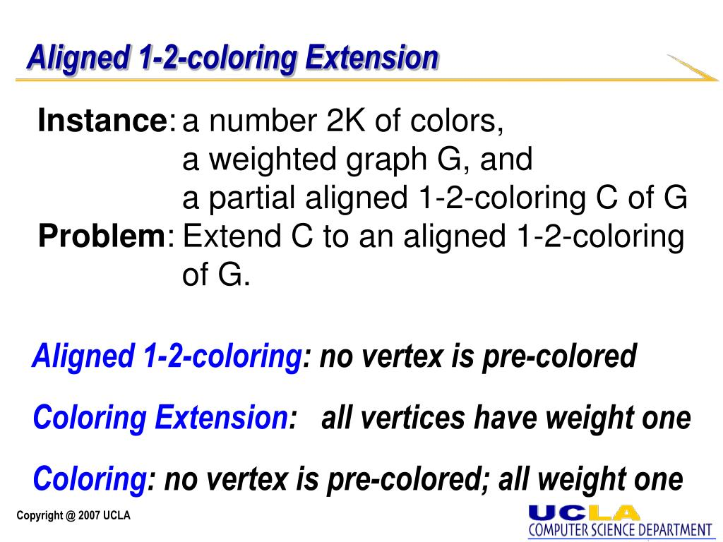 Aligned 1-2-coloring Extension