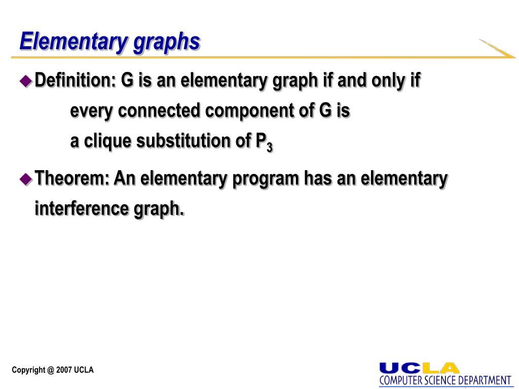Elementary graphs