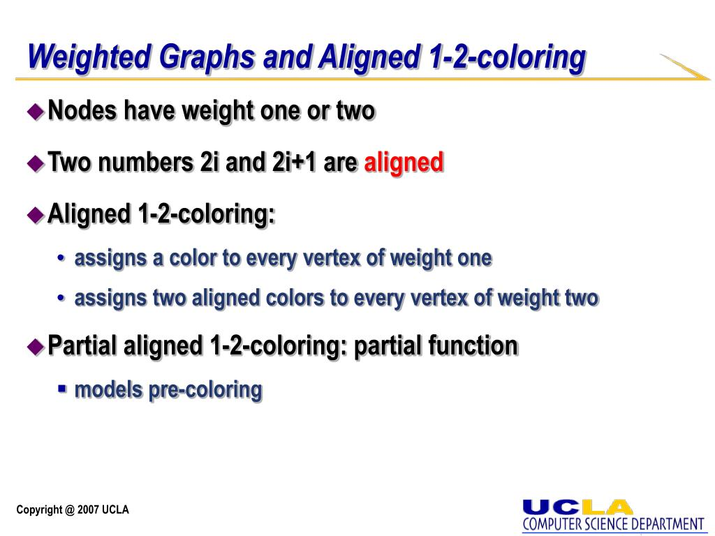 Weighted Graphs and Aligned 1-2-coloring