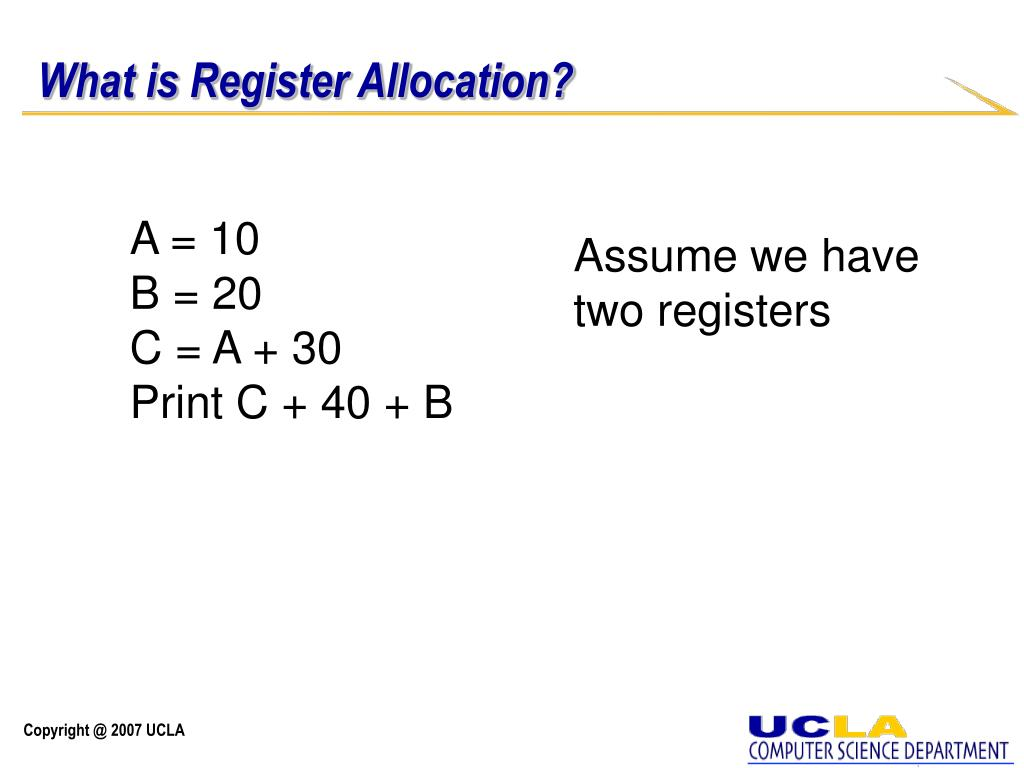 What is Register Allocation?