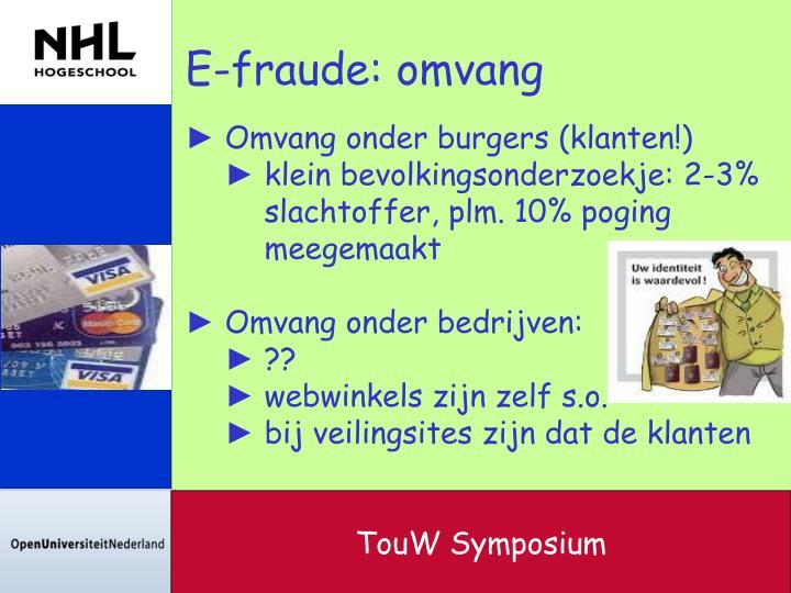 E-fraude: omvang