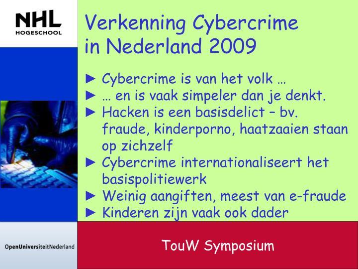 Verkenning Cybercrime