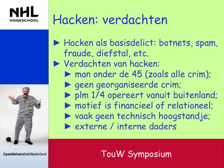 Hacken: verdachten