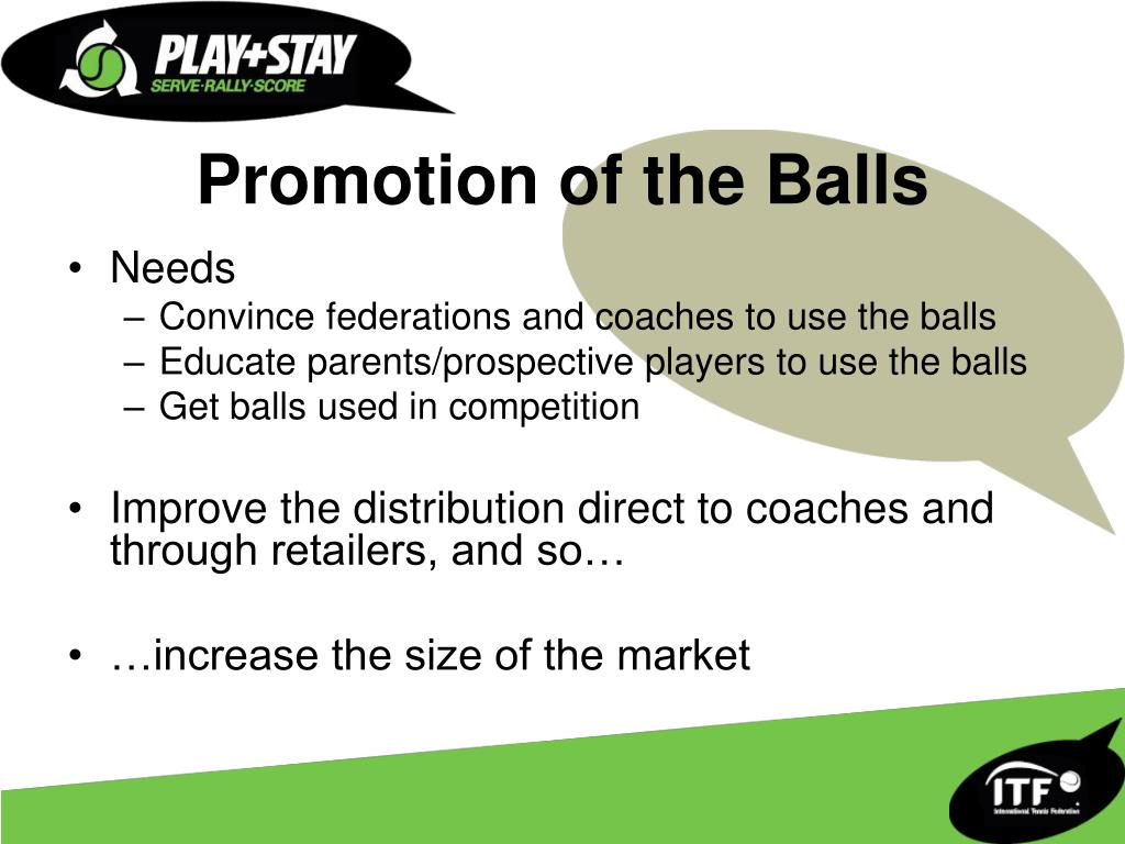 Promotion of the Balls