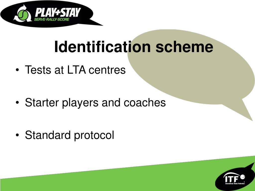 Identification scheme