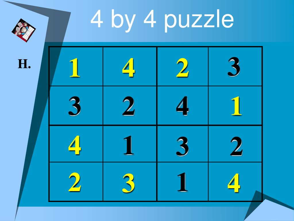 4 by 4 puzzle