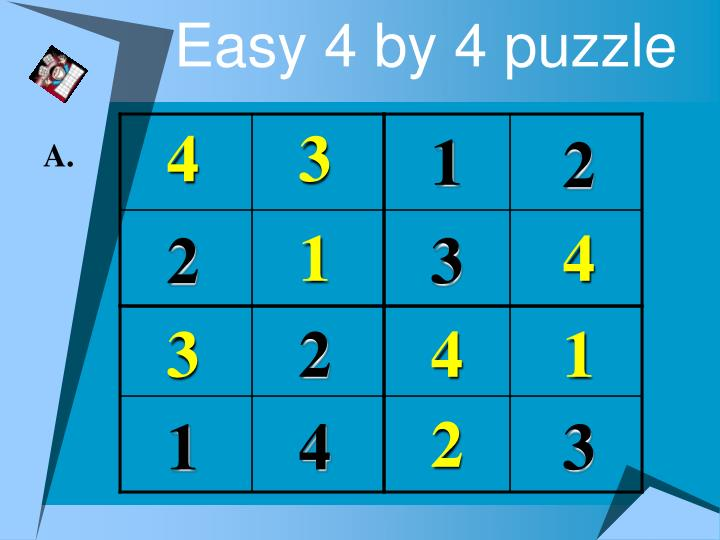 Easy 4 by 4 puzzle3