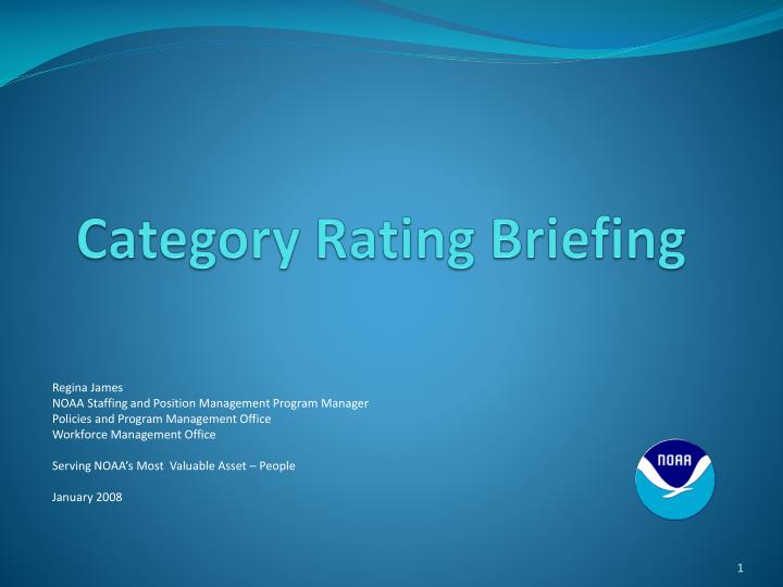Category rating briefing