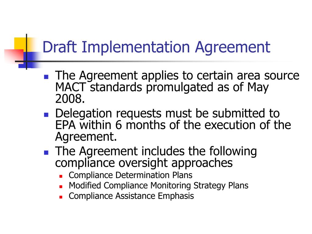 Draft Implementation Agreement