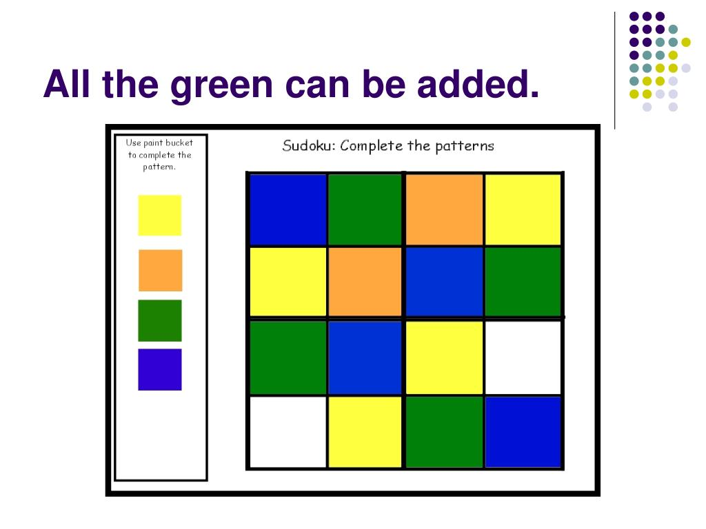 All the green can be added.