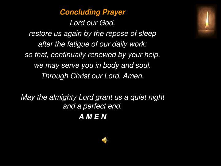 Concluding Prayer