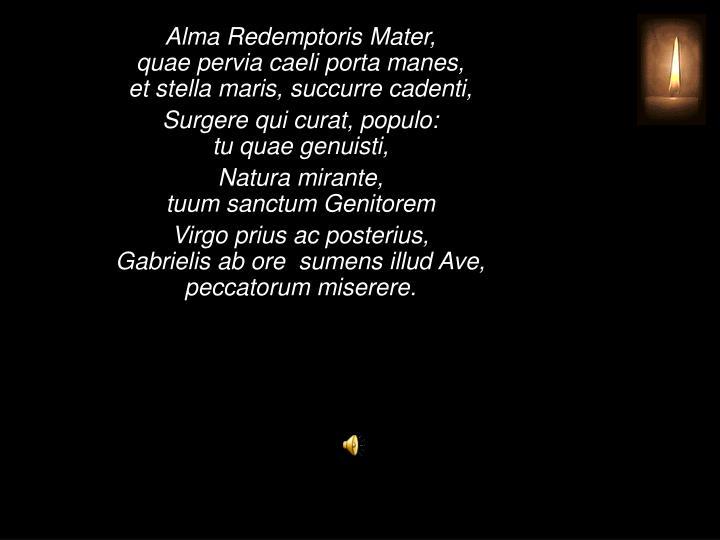 Alma Redemptoris Mater,