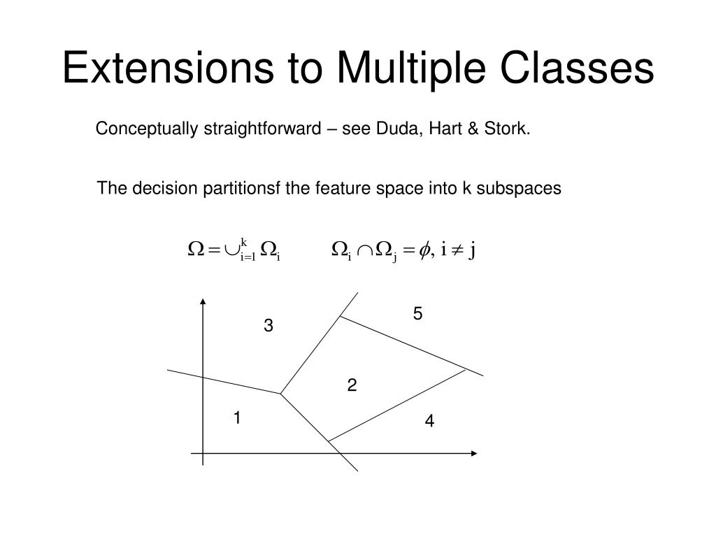 Extensions to Multiple Classes
