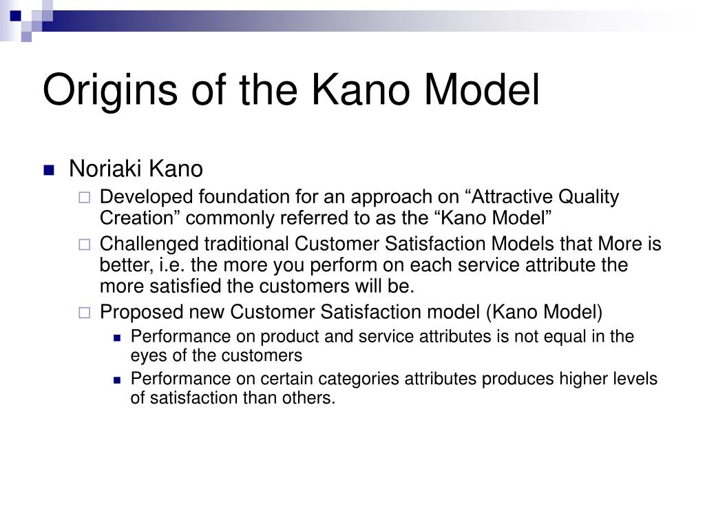 Origins of the Kano Model