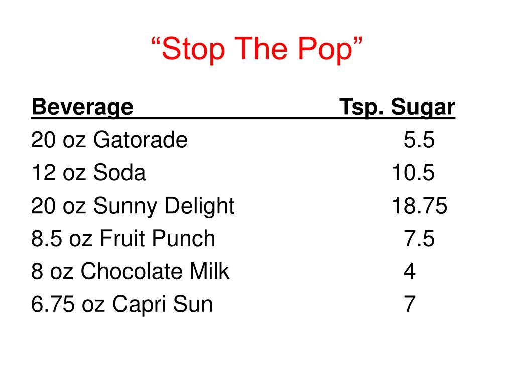"""""""Stop The Pop"""""""
