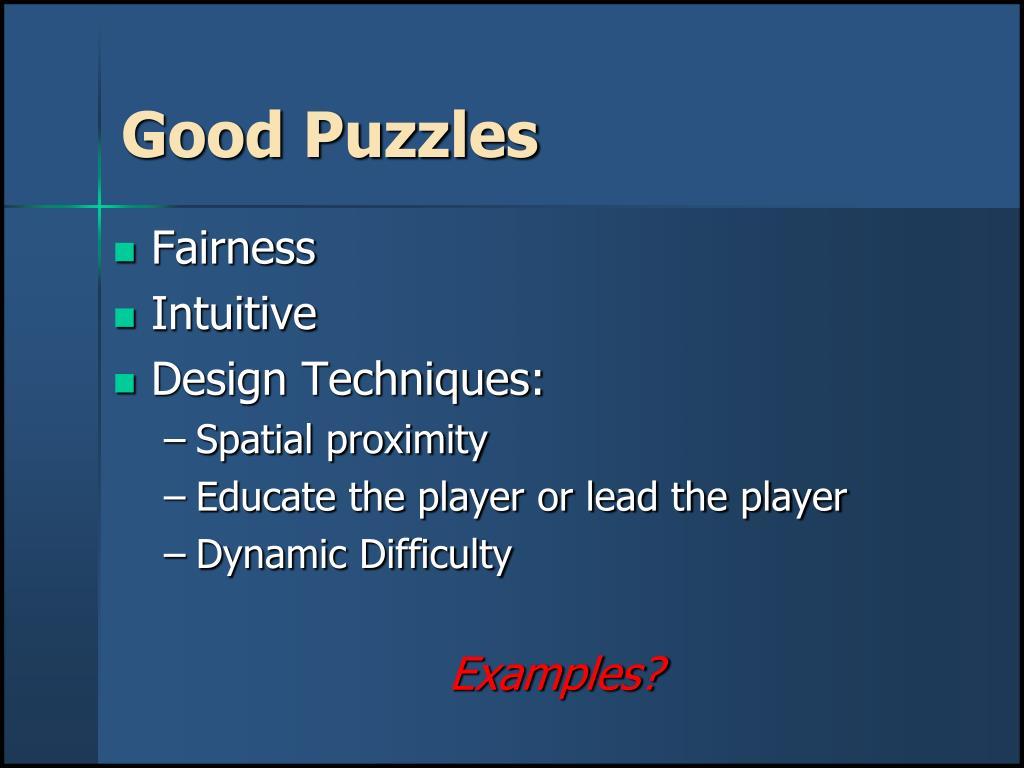 Good Puzzles