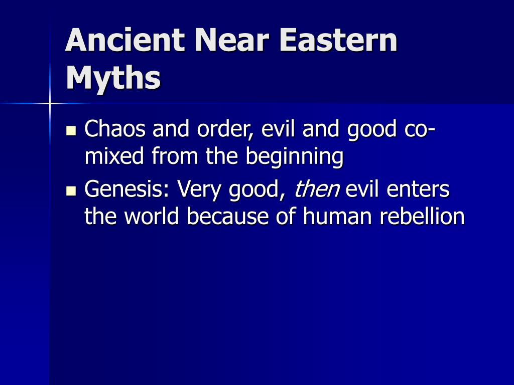 Ancient Near Eastern Myths