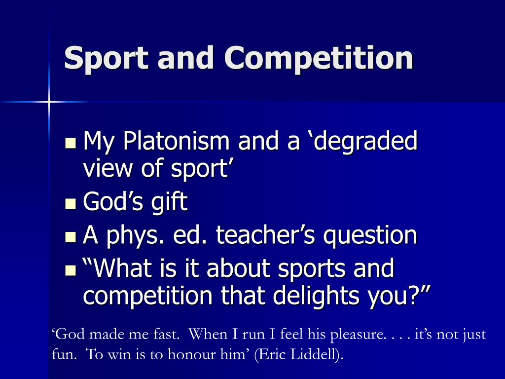 Sport and Competition