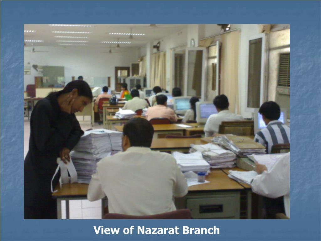 View of Nazarat Branch