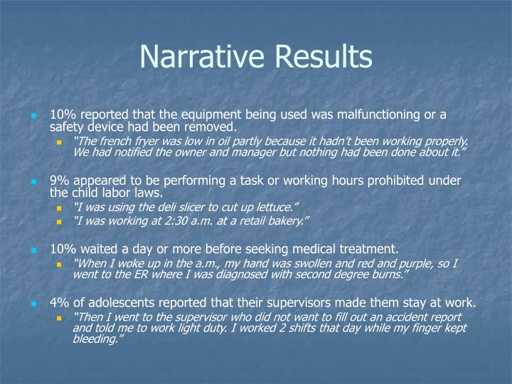 Narrative Results