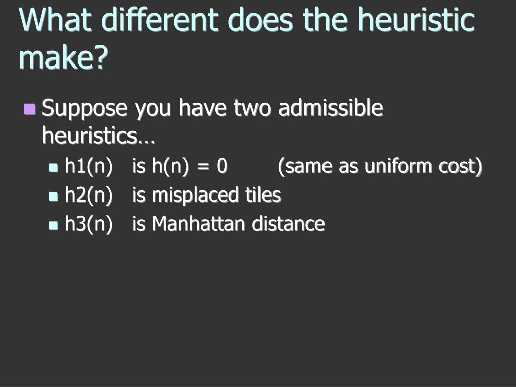 What different does the heuristic make?