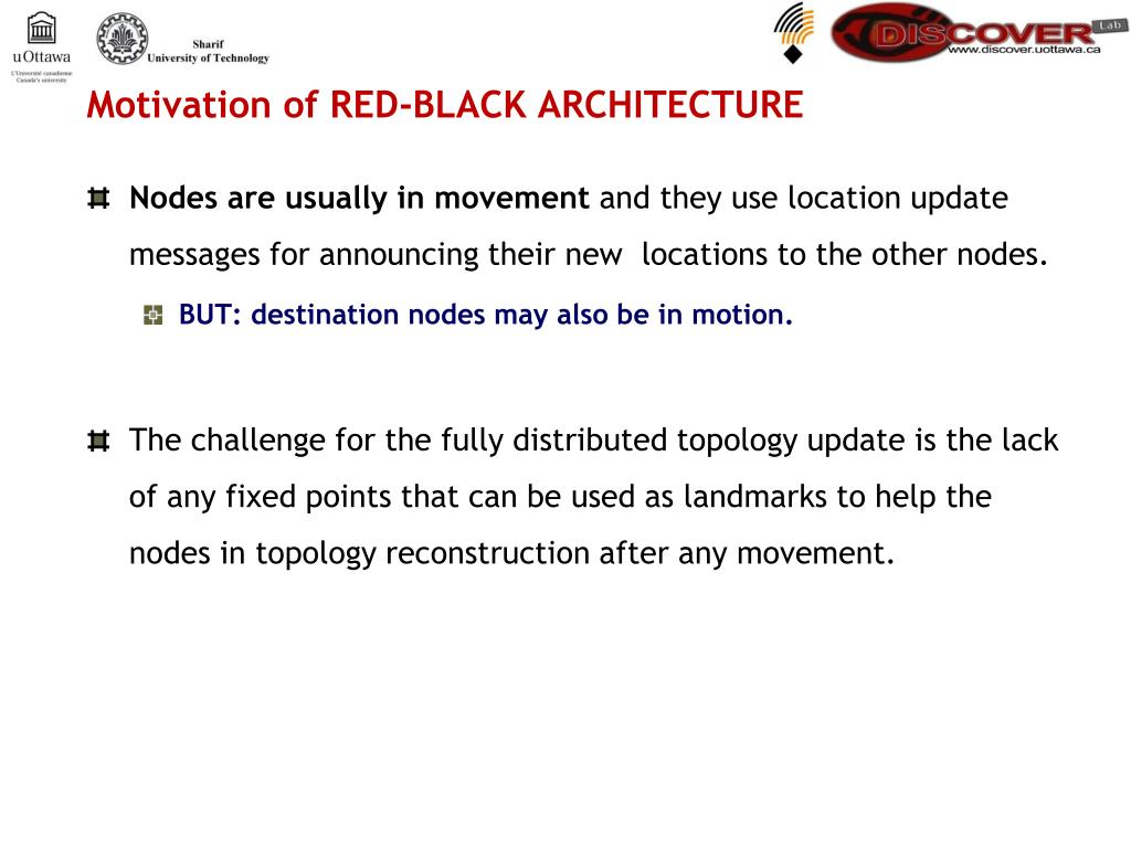 Motivation of RED-BLACK ARCHITECTURE