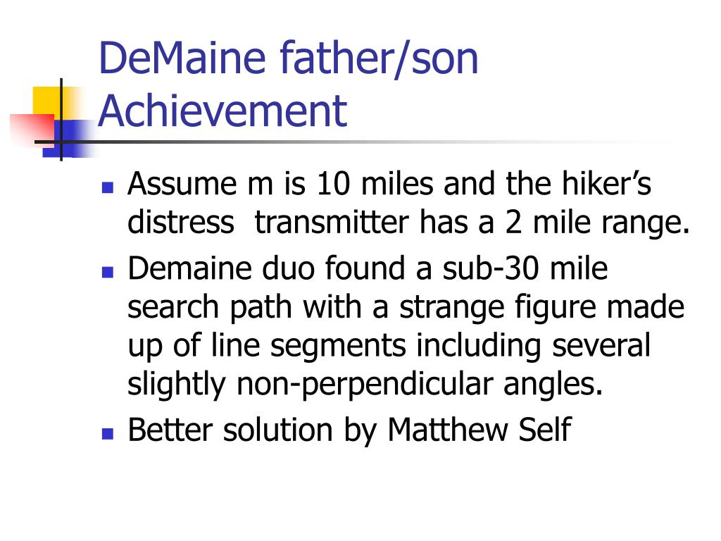 DeMaine father/son Achievement