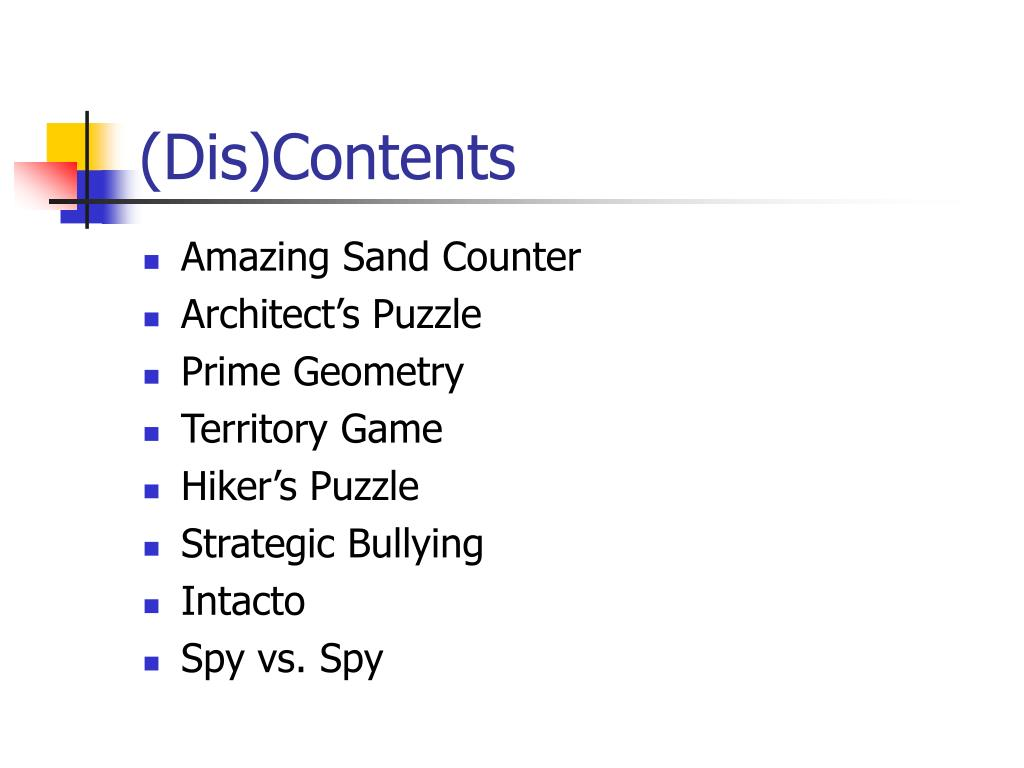 (Dis)Contents