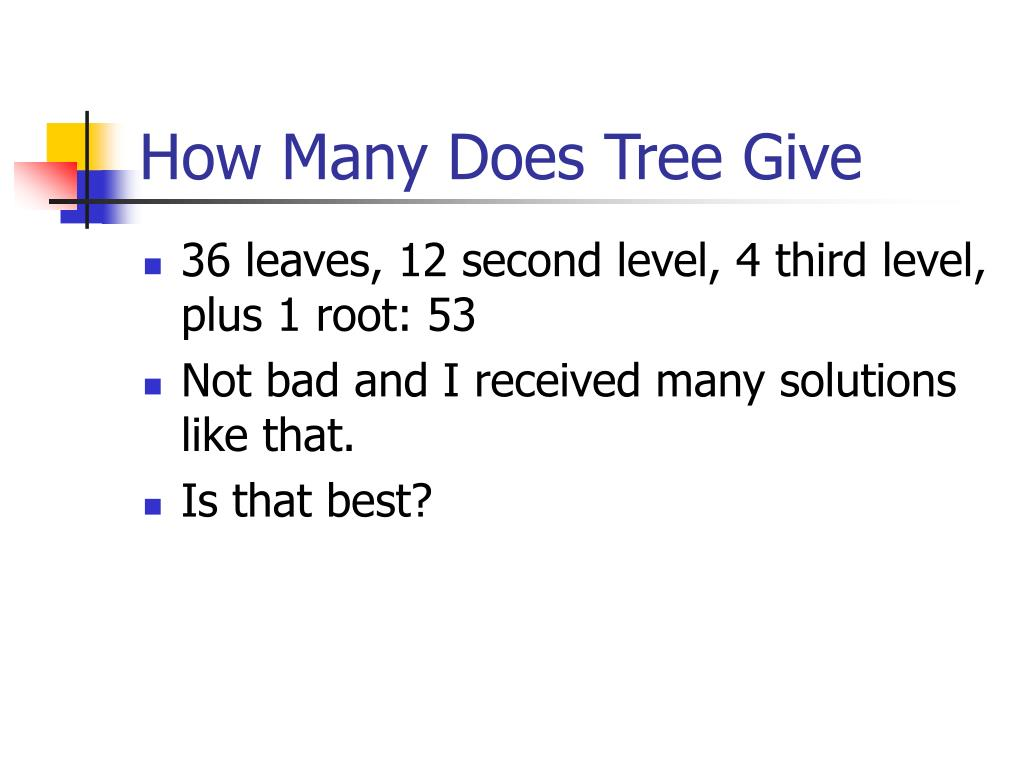 How Many Does Tree Give