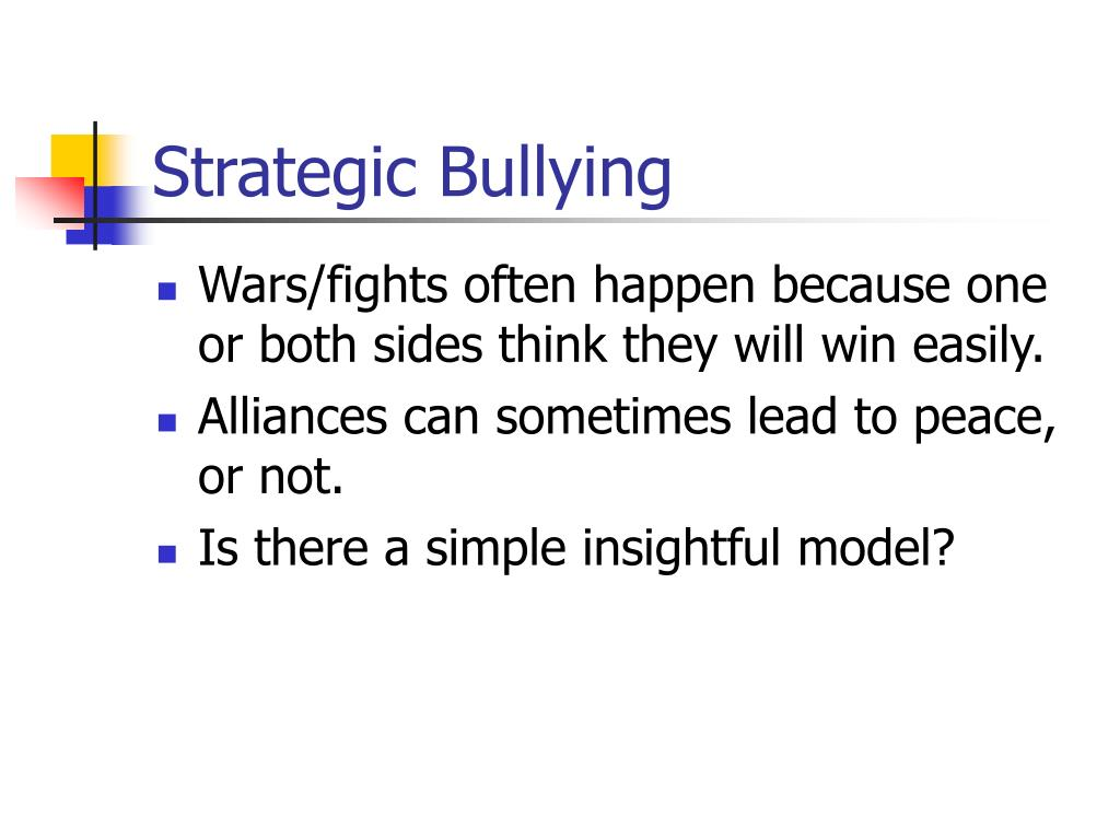 Strategic Bullying