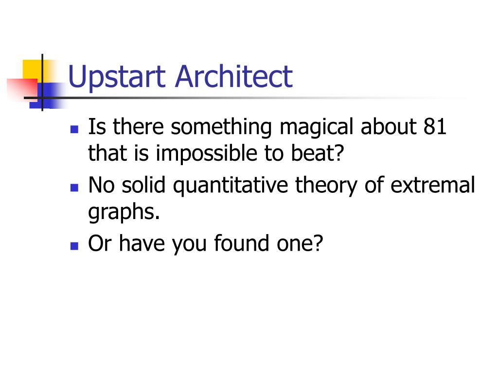 Upstart Architect