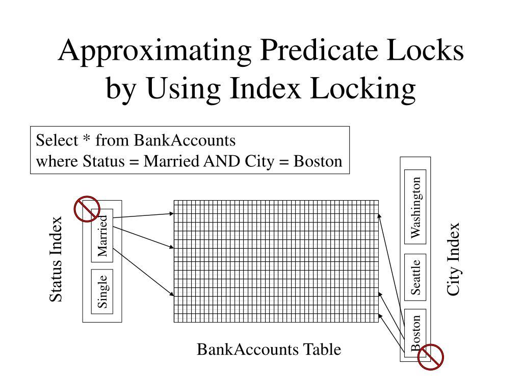 Approximating Predicate Locks by Using Index Locking