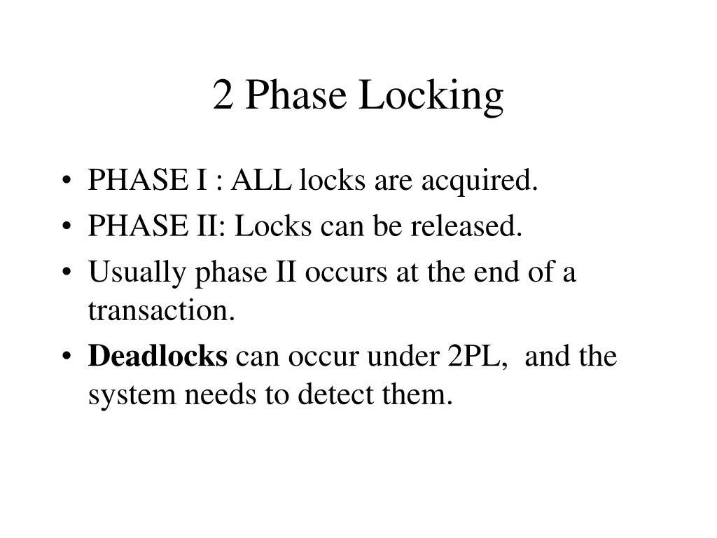 2 Phase Locking