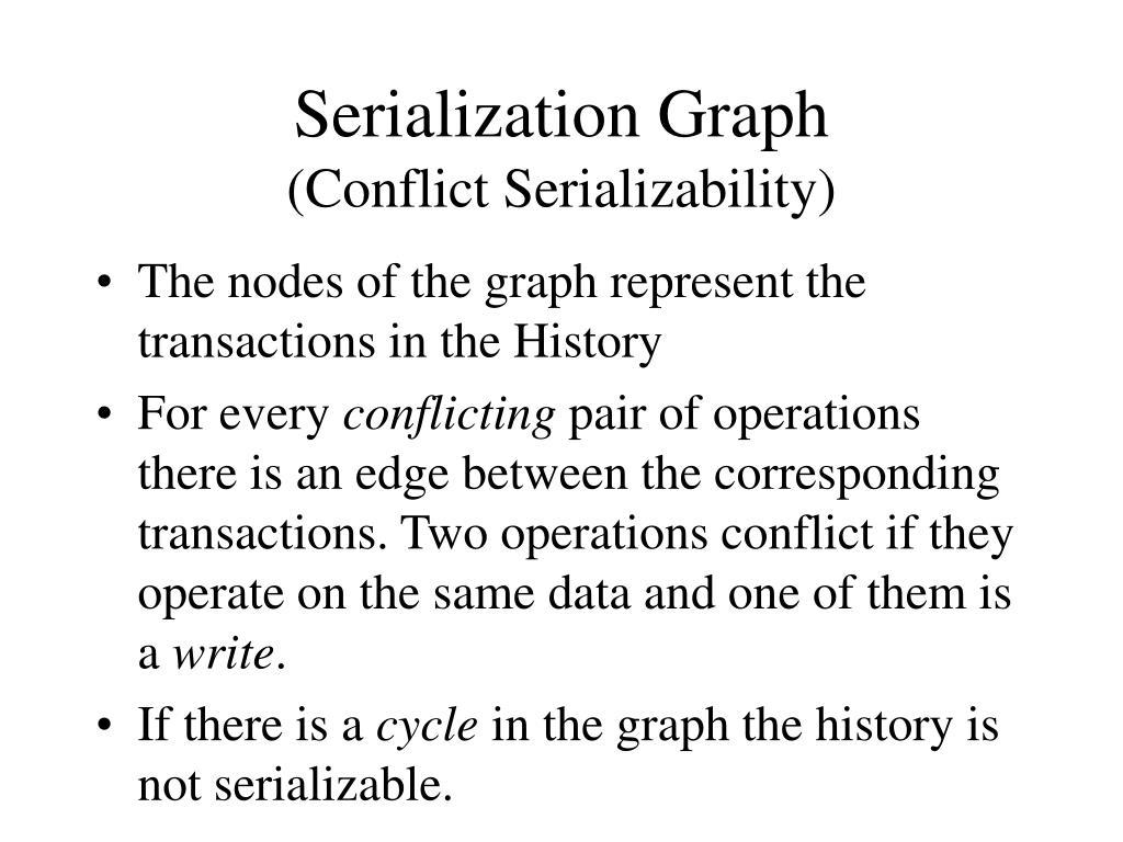 Serialization Graph