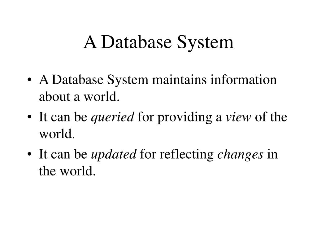 A Database System