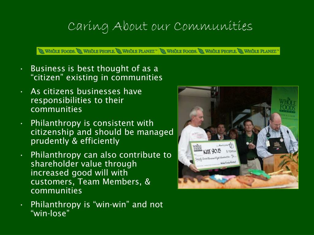 Caring About our Communities