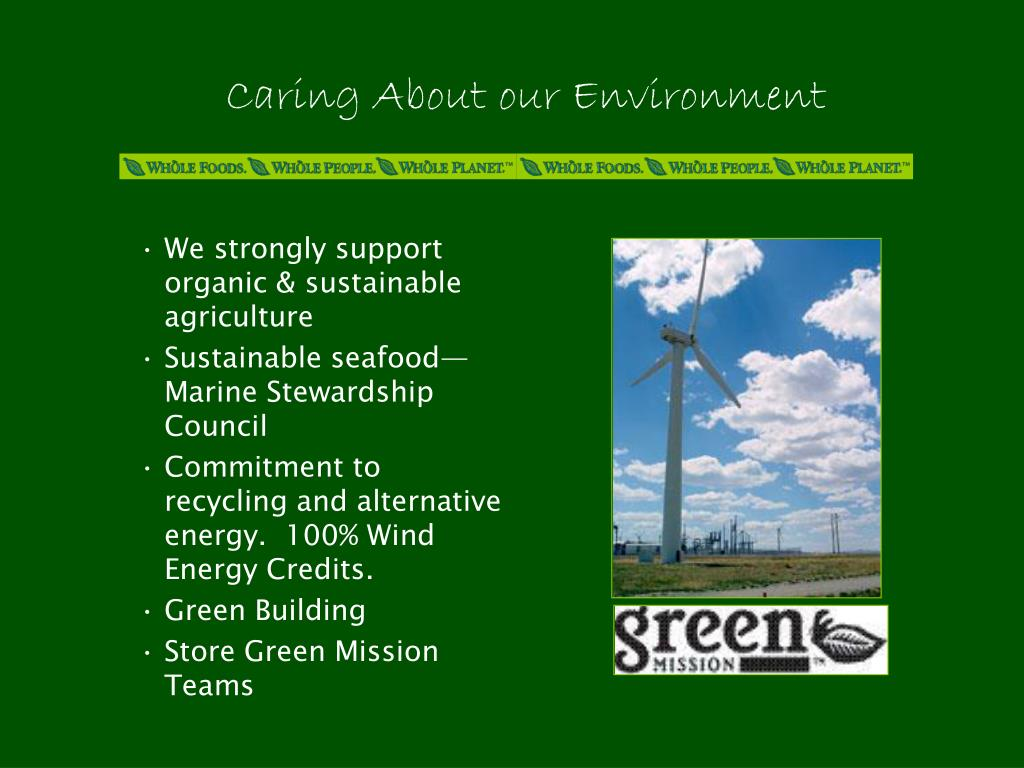 Caring About our Environment